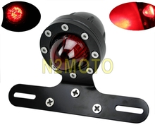 Black 12V CNC Machined Billet Aluminum XS650 Bobber Cafe Racer LED Motorcycle Tail Light(China)