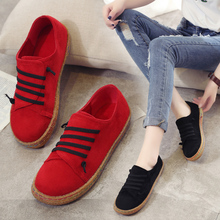 2017 Autumn women soft surface all-match casual shoes shallow mouth shoes lady flats low lazy shoes canvas shoes for women