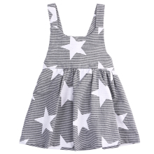 Infant kids Baby Girls Dress Star Birthday Party Pageant Summer Sundress Dresses