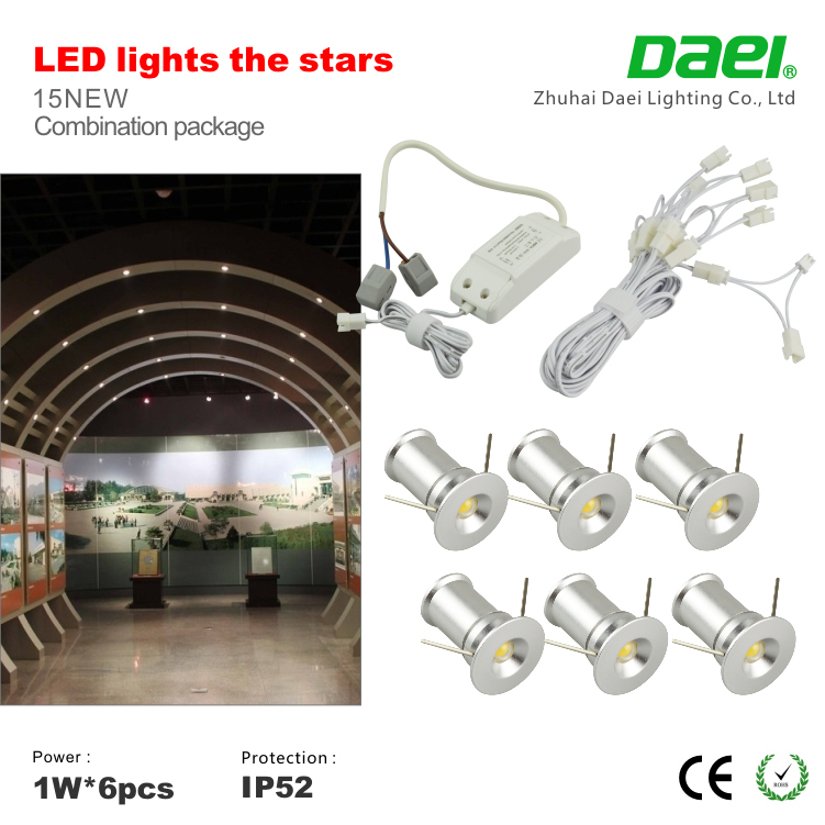 Mini Small Spot Lights 1w Ip65 Indoor Warm White Cool Lighting For Pub Saloon Ceiling