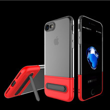 Kickstand Case For iPhone 7  7 Plus Magnetic Holder Phone Cases PC+TPU 60 Degree Rack Stand Cover For iPhone 6 6sPlus