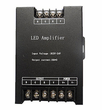 Led RGB Amplifier Controller input 5V/12V/24V 30A Signal Repeater 360W for 3528 /5050 RGB Led strip
