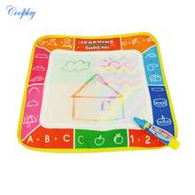 COOLPLAY 29 x 29cm 4 Color Children Water Drawing Mat Board & Magic Pen Doodle Kids Educational Toy