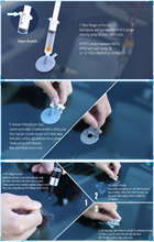 2016 New DIY Car Window Glass Repair Kit tools Auto Glass Windscreen Repair Set Give Door Handle Protective Decorative Stickers(China)