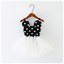 Girls Summer 2017 Party Dress Baby Birthday Tutu Dresses For Girls Children lace Vest Wedding kids Hello Kitty Children Clothing(China)