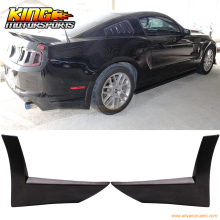 For 2013-2014 Ford Mustang X Style 2PC Rear Bumper Lip Spoiler Apron - Urethane PU