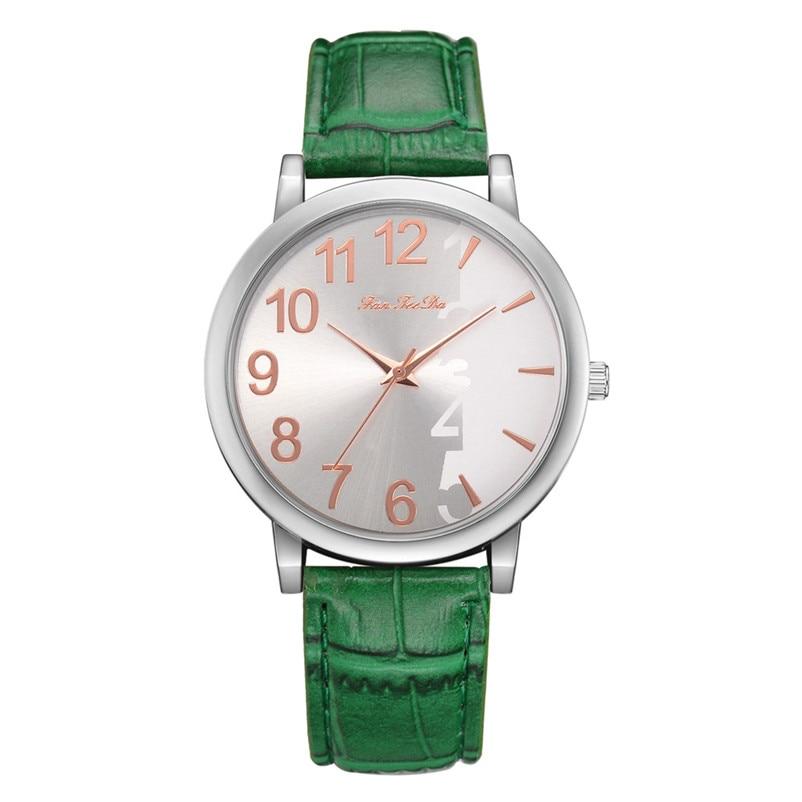2018 High Quality women fashion casual watch luxury dress Leather bands Analog Quartz Wrist Watch clock relogio feminino Y12 (3)