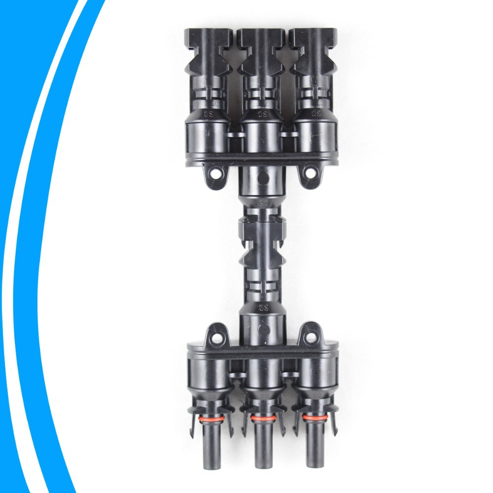 1 Pair Solar Panel MC4 3 to 1 T Branch Connectors One Female to Three Male,One Male to Three Female MC4 Panel Cable Connectors<br><br>Aliexpress