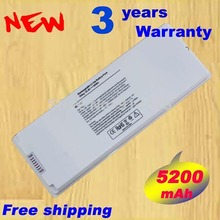 "White 59Wh Battery for Apple MacBook 13"" A1185 A1181 MA561 MA561FE/A MA561G/A MA254 Free Shipping"