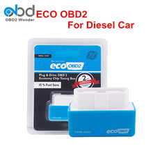 Blue EcoOBD2 For Diesel Cars Chip Tuning Box Eco OBD Plug And Drive Lower Fuel And Lower Emission ECO OBD2 Free Shipping