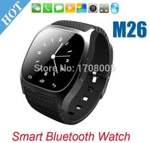 SmartWatch Bluetooth Smart Watch M26 with LED Display / Dial / Alarm / Music Player / Pedometer for Android IOS HTC Mobile Phone(China)