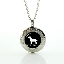 2017 Real Sale Maxi Necklace Collares Collier Gift Idea Accessory Locket Necklace Labrador Retriever Dog Pendant Steampunk T367