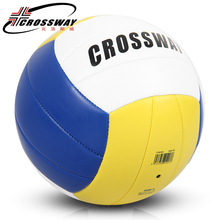 CROSSWAY Official Size 5 PU Volleyball 504 High Quality Match Volleyball ball Indoor&Outdoor Training ball With Free Gift Needle(China)