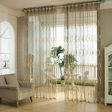 Circle Jacquard Organza Tulle Curtains Fabric For Window(China)