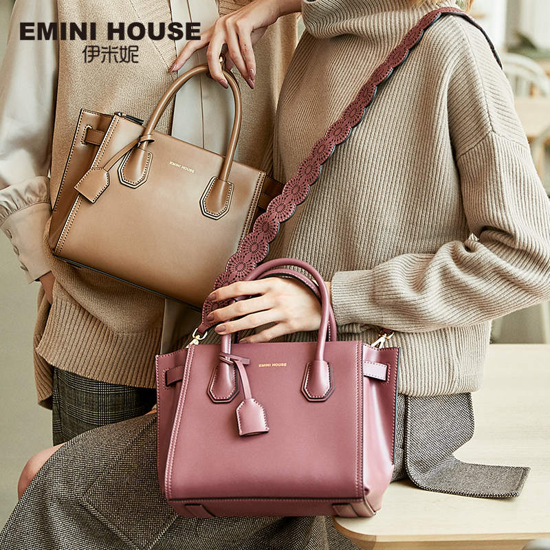 EMINI HOUSE Fashion Handbag Luxury Handbags Women Bags Designer Split Leather Crossbody Bags For Women Messenger Bag handbag