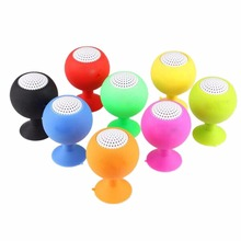 Mini Portable Holder Music Wireless Speaker Small Glass Suction Cup Bluetooth Speaker USB 3.5mm Plug Support For MP3 MP4 PC iPod