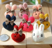 Kawaii Mix Colors, 4CM Rabbit Plush TOY , Decoration Plush DOLL ; Candy Box Knitting Rabbits