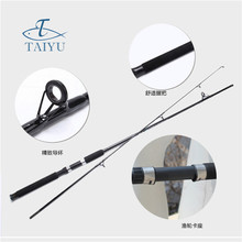 Top Quality Portable Fishing Rod 2.1M 2.4m Glass  Steel Fishing Rod Fishing Accessories Flying Catch Rod Spinning
