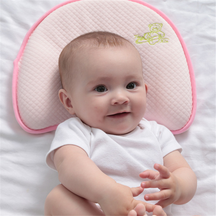 Baby Bamboo Fiber Anti-roll Pillows Shape  Infant Anti-Alip Slow Rebound Memory Pillow Baby Newborn Stereotypes Pillowing<br><br>Aliexpress