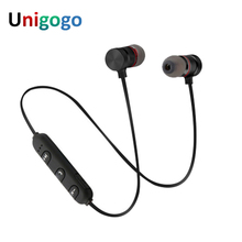 Buy Wireless Sports Magnet earphone Stereo Bluetooth headphones Microphone smart phones Handsfree Mini Earpiece headset for $7.88 in AliExpress store