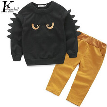 2017 Children Clothing Long Sleeve Sport Suit Fashion Outfits Autumn Boys Clothes Set Baby Little Monster Costume For Kids