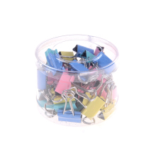 40pcs/lot Assorted Office Foldback Paper Binder Clips Colorful Binder Clips Wholesale low price(China)