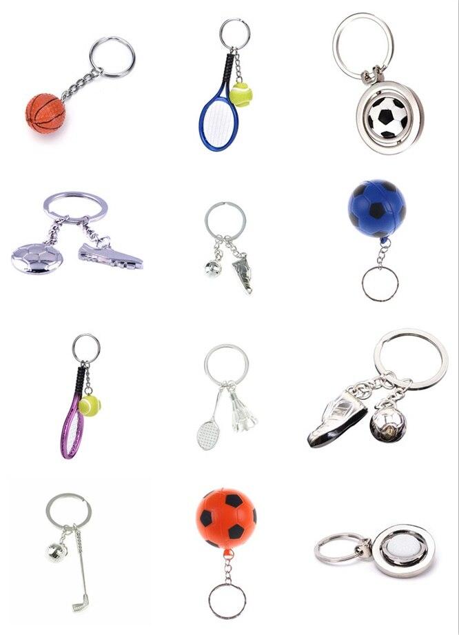 Fashion Sport Ball Key Chains Key Ring Football Basketball Golf Badminton Car Key Ring Jewelry Gift Bag Keychain