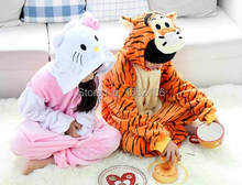 Flannel Pajamas Unisex Kids Animal Onesie Kitty Jumping Tiger Cosplay Costume Sleepwear Pijama Menino