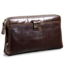 Buy Long Zipper Cowhide Men Wallet Genuine Leather Men Clutch Bags Men's Wallet Male Purse Hasp Phone Bag Credit Card Holder cartera for $18.36 in AliExpress store