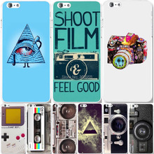 "Phone cases for iPhone 6 Plus 5.5"" New Funny Colorful Camera Painted Patterns Cheap Price Hard PC Back Cover Skin WHD1129 23-40"
