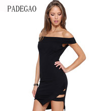 Sexy Elegant Office Dress Women Work Slash Neck Bodycon Formal Ladies Pencil Mini Dresses 2017 Summer Sundress(China)