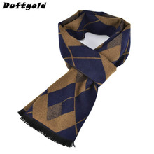 New Winter Autumn Man Warm Popular Scarves Male Cotton Business Shawl People Joker Plaid Pashmina Boy Leisure Scarf Duftgold