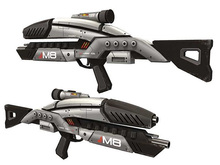 Mass Effect M8 Paper Model 1:1 Firearms Avenger Rifle Machine Gun Assault Rifle Models DIY Toy(China)