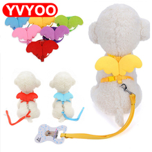 Cute Angel Pet Dog Leashes and Collars Set Puppy Leads for Small Dogs Cats Designer Adjustable Dog Harness Pet Accessori(China)