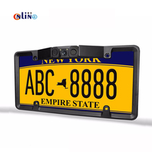 Online/New license plate frame 170 Universla Car License Plate Frame Auto Reverse Rear View Backup Camera 2 LED 2 Parking sensor(China)