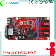 TF-A6UR software for led card controller for digital message led sign / led pixel controller sd card for for p10 led sign panel(China)