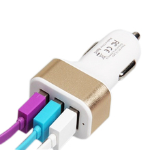 Universal 3 Ports Mini USB Car Charger Mobile Phone Travel Adapter For iPhone iPad Samsung HUAWEI Sony Xiaomi Laptop Car-charger