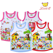 2017 new Little Q baby pure cotton 4 pieces clothes kid summer vest clothing children fashion apparel infant newborn suits