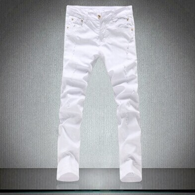sale !high quality mens  casual pants,fashion skinny jeans men pencil pants white 28 to34Одежда и ак�е��уары<br><br><br>Aliexpress