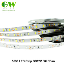 LED Strip 5630 DC12V Flexible LED Light 60 LED/m 5m/lot Warm White / White / Cold White / Red / Green / Blue