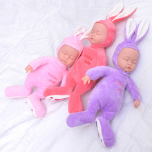 38CM Animal Silicone Reborn Baby Doll Singing Simulated Babies Sleeping Reborn Dolls electric Toys plush Soft Dolls Newborn Toy(China)