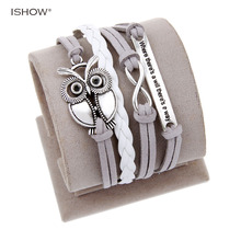 New Fashion Bijoux Handmade Braid Love One Direction Charm Bracelet Wristband Leather Heart Bracelets Bangles For Men Woman(China)