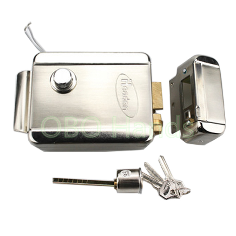 DC12V Metal Waterproof Electric Control Lock Access Door Locks Security Guard Against Theft Iron Gate Electric Lock <br>