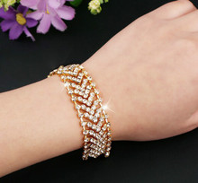 HOMOD luxury heart Bracelet Hand-set Micro Inlay Craft 3A Crystal Studded Bracelet Bijoux For Women And Girls Accessories QC8066