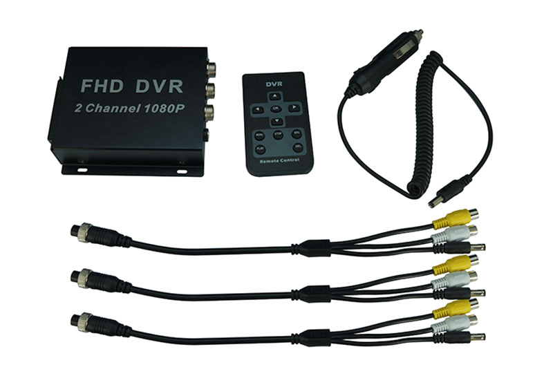2CH 1080P MINI mboile DVR support 2 piece 1080p AHD camera recording at the same time