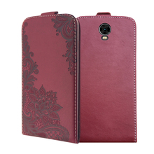 3D Stereo Embossing lace flower butterfly flip up and down leather phone bag cover case for Vertex Impress Eagle