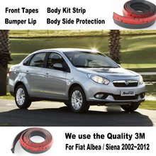 Car Bumper Lips For Fiat Albea / Siena 2002~2012 / Car Tuning / Body Kit Strip / Front Tapes / Body Chassis Side Protection