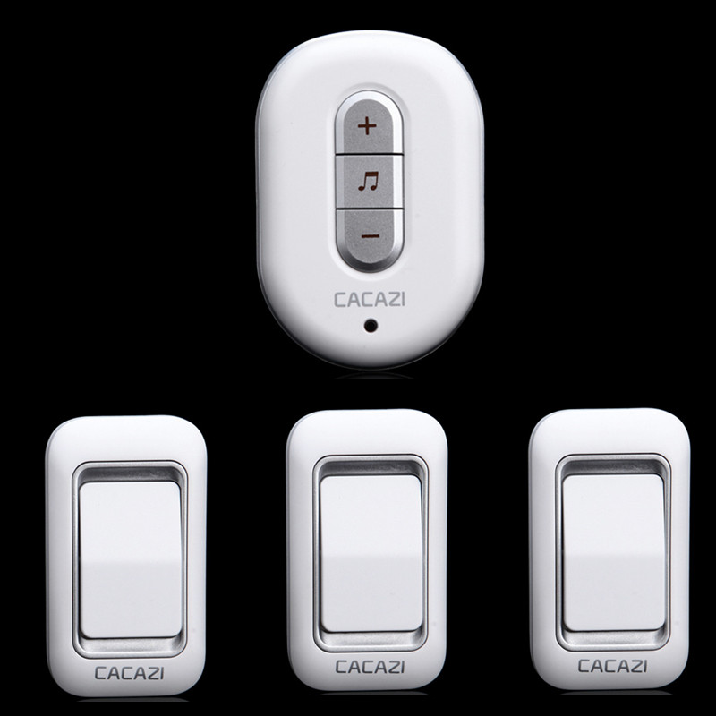 3 transmitters+1 receiver Wireless Doorbell Waterproof AC 110/220V 300M remote control digital plug-in home elderly pager<br><br>Aliexpress