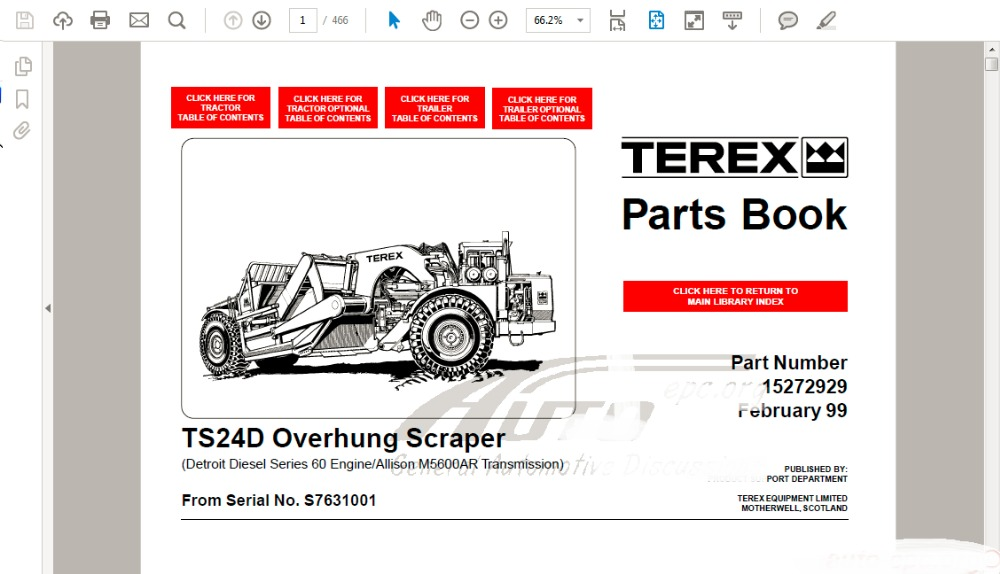 Parts-Service [2002] forTEREX<br><br>Aliexpress