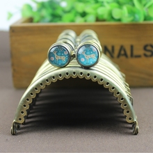 20 pcs 8.5 CM Time Gem Flat Bead Christmas De deer Clasp Bronze Smooth Coin Purse Metal Frames Cluth DIY Sewing Bag Accessories(China)